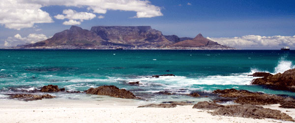 A beautiful view of Cape Town and Table Mountain.