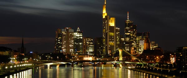 Frankfurt, situated on the River Main, is the economic center of Europe.