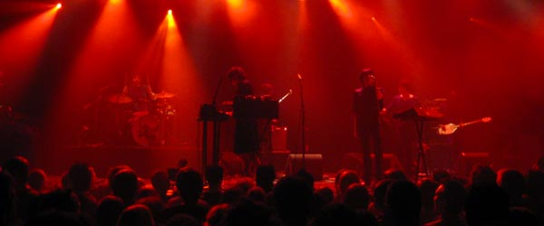 The band Ladytron performing at Leidseplein club Melkweg.