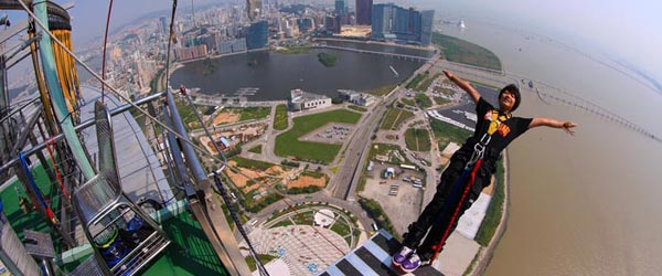 Plummet 700 ft off the Macau Tower with the AJ Hackett Experience.