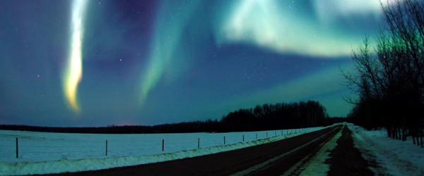 The Aurora Borealis as seen from the far north of Canada.