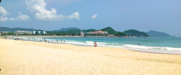 Dadonghai Beach is a popular beach with Russian tourists.