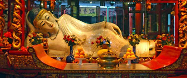 The Jade Buddha Temple is a well-known temple in Shanghai.