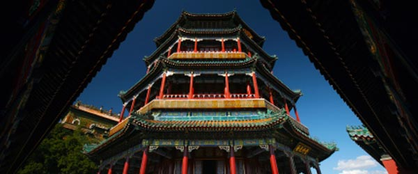 The Tower of Buddhist Incense at the Summer Palace in Beijing.