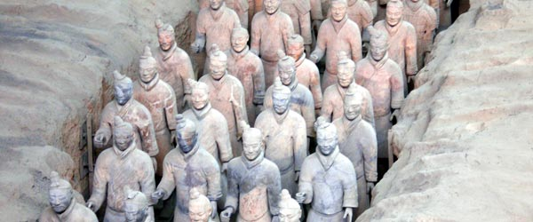 The Terracotta Army consists of 8,000 individually sculpted warriors.