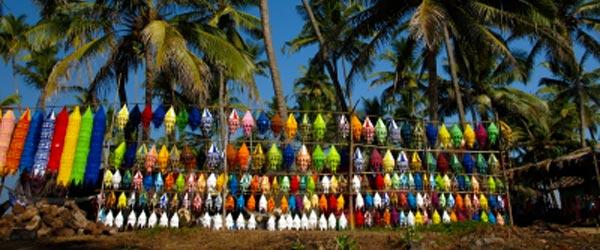 The popular Wednesday flea market at Anjuna Beach.