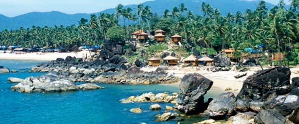 Goa has many affordable and scenic beach resorts.