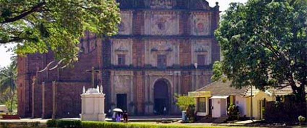 Basilica of Bom Jesus is a relic from Portuguese colonialism in Goa.