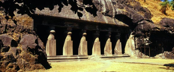 The Elephanta Caves is a complex of temples built inside a mountain.