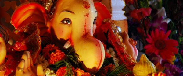 The elephant-headed Lord Ganesha is an important Hindu god.