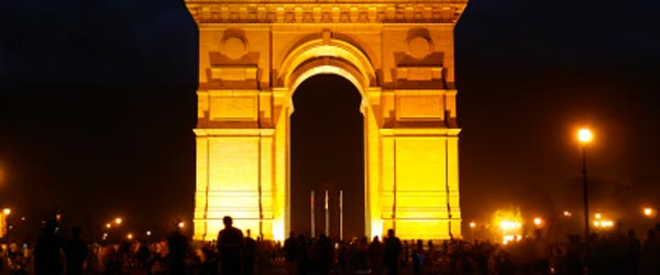 The India Gate memorializes the Indian soldiers killed in World War I.