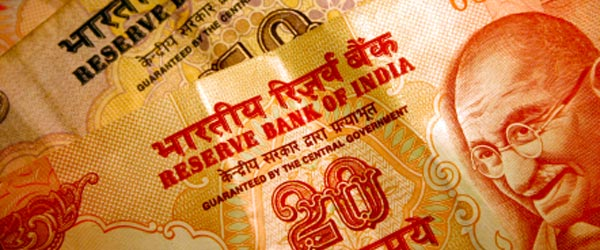 Mohandas Gandhi, the father of modern India, is on the bank notes.