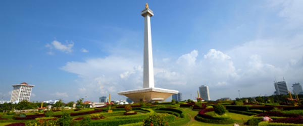 The National Monument is a symbol of Indonesia's independence.
