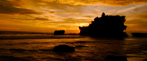 Tanah Lot is one of Bali's most important sea temples.