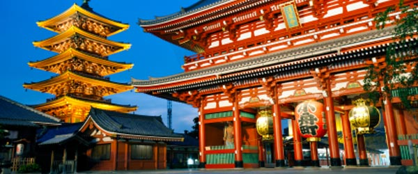 Sensoji, built in 628, is one of Tokyo's most historical temples.