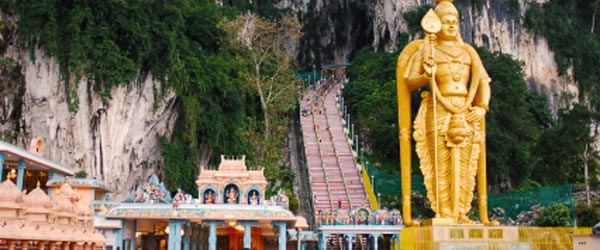 The Batu Caves are a holy site of worship for Hindus.