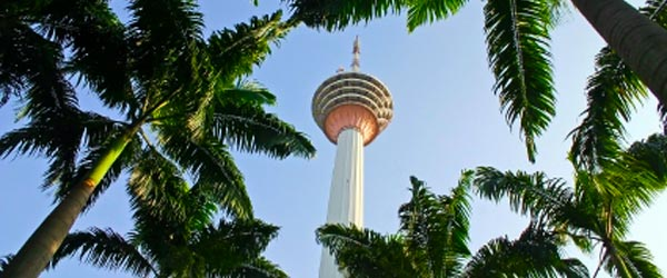The KL Tower is 421 meters tall and has a public observation deck.