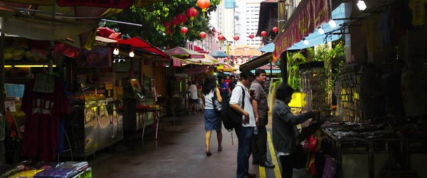 Chinatown is comprised of several blocks of markets and food stalls.