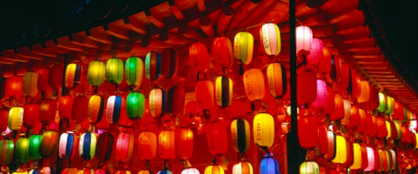 The Lotus Lantern Festival commemorates the birth of Buddha.