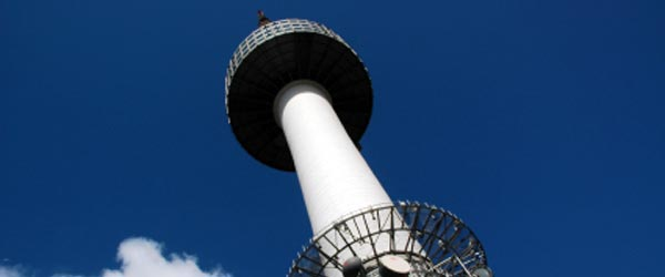 The Seoul Tower is on Namsan Mountain and offers great views.