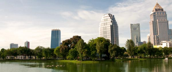 Lumphini Park in Central Bangkok is an oasis of tranquility in a crazy city.