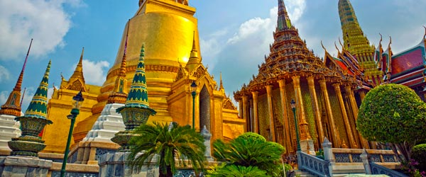 The Royal Grand Palace is the main cultural attraction in Bangkok.