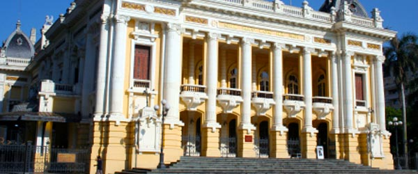The Hanoi Opera House was built by the French in the early 20th century.