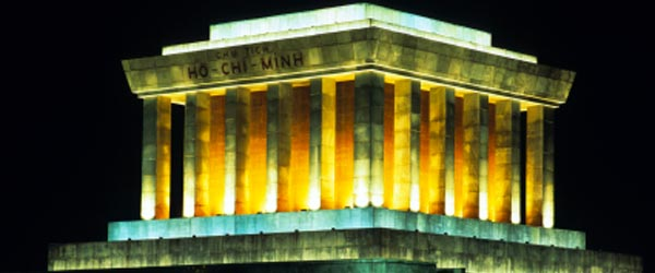 Ho Chi Minh was the father of modern Vietnam and this is his mausoleum.