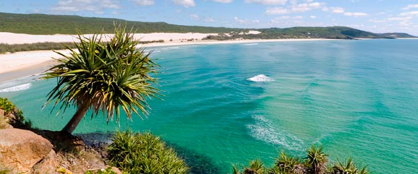 A view of a beautiful beach in Fraser Island.