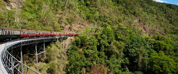 The Kuranda Scenic Railway cuts a path through some of the world's most scenic landscapes.