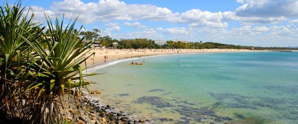 Sunshine Coast is a popular beach destination in Queensland.