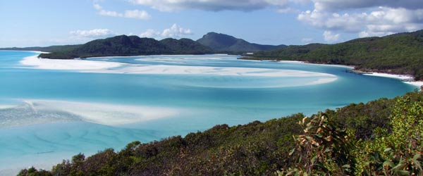 Beautiful Whitehaven Beach in the Whitsunday Islands.