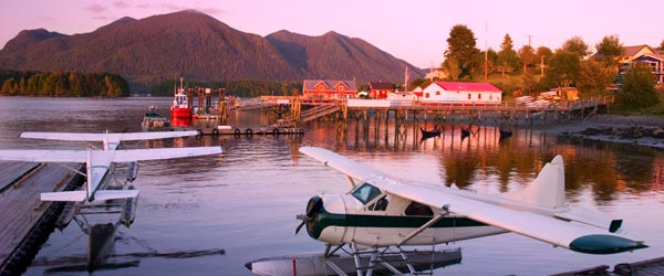 Floatplanes are a common form of transportation in remote B.C.