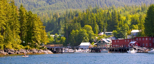 Telegraph Cove is a small and scenic town on the north side of the island.