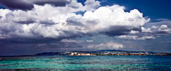 The turquoise water and blue skies of Montego Bay.