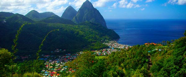 Saint Lucia and the world-famous Pitons.