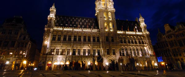 The Grand Place is the scenic center of Brussels.