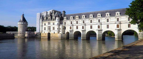 The majestic castle of Chenonceau, known as the six lady's chateau.