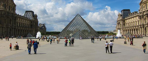 The world-famous Louvre Museum houses the Mona Lisa.