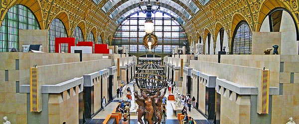 The spectacular Musee d'Orsay is inside a former railway station.