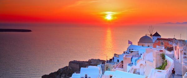 Santorini is known for having some of the most beautiful sunsets in the world.