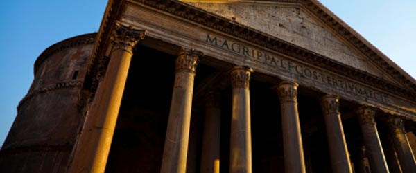 The spectacular Pantheon was built to honor the gods of Ancient Rome.