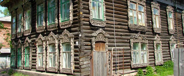 A wooden mansion in Tomsk.