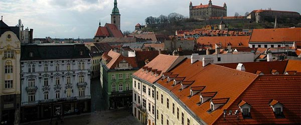 An elevated look at Old Town with the castle in the background. Photo credit: David Watterson