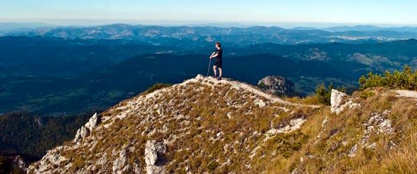 Taking in the mountain views near Terchova. Photo credit: Phil Woolman
