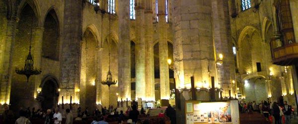 The Basilica de Santa Maria del Mar was built in the 14th century.