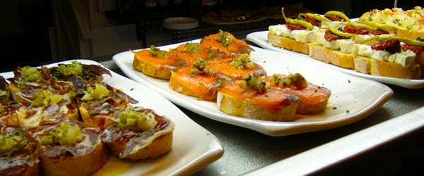 Some of the mouth-watering tapas on offer in Koska Taverna.