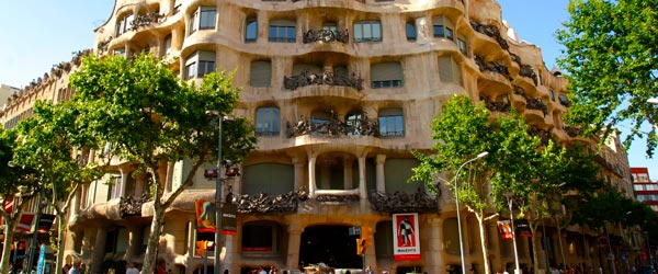 La Pedrera has an amazing courtyard and a fantastical roof.