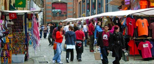 The market at Camden Lock is a hotbed of alternative shopping.