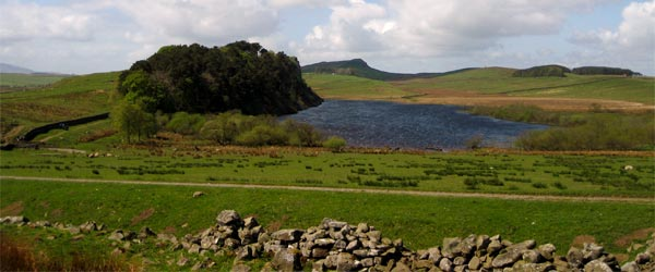 Crag Lough as viewed from Hadrian's Wall.